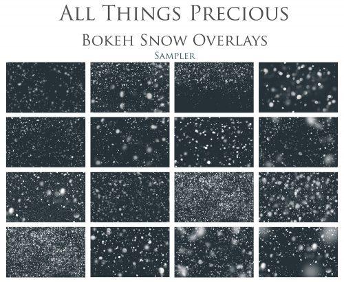 BOKEH SNOW OVERLAY SAMPLE W 7E